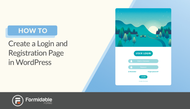 How to create a login and registration form in WordPress