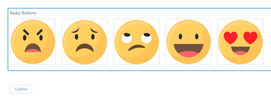 Emoji rating scale system