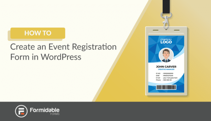 How to create an event registration form in WordPress