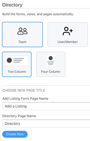 Team directory builder