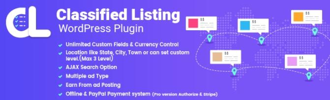 classified listing WordPress plugin