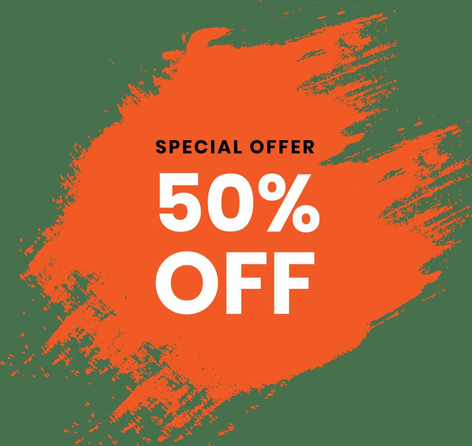 Get 50% Off