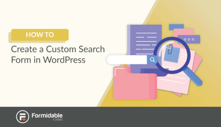how to create a custom search form in WordPress