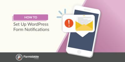 WordPress form notifications