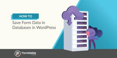 save form data to database WordPress