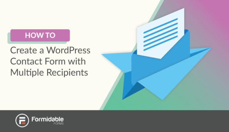 WordPress contact form multiple recipients