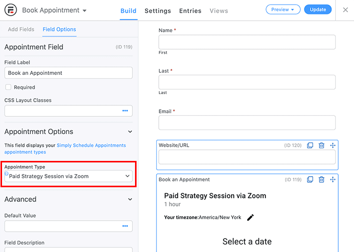 wordpress appointment booking form with payment