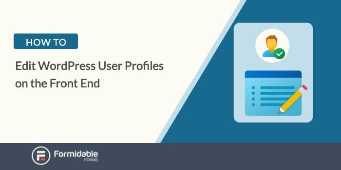 How to edit wordpress user profiles on the front end