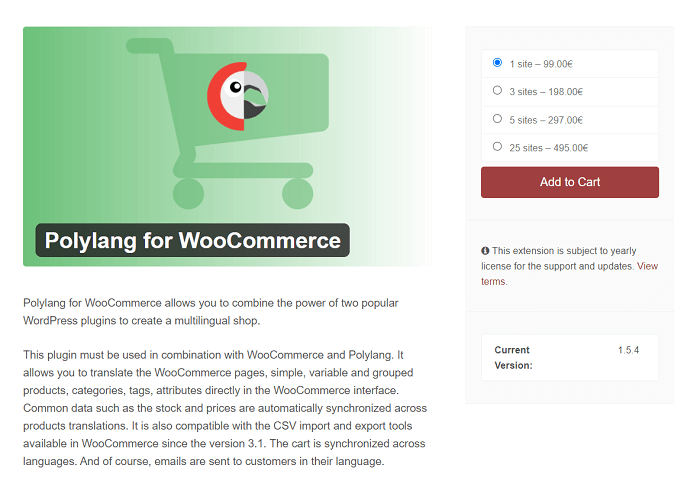 The Polylang WooCommerce add-on.