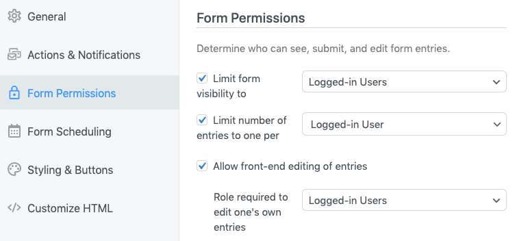 Let only logged-in members edit wordpress user profiles