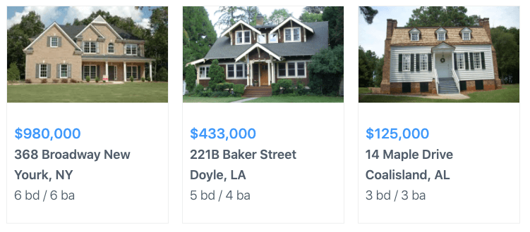real estate listing using wordpress grid plugin