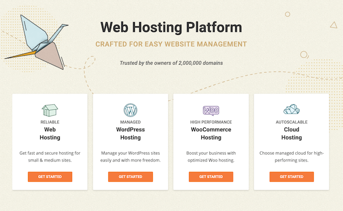 The home page for the Siteground WordPress hosting provider.