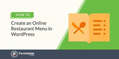 How to create an online restaurant menu plugin