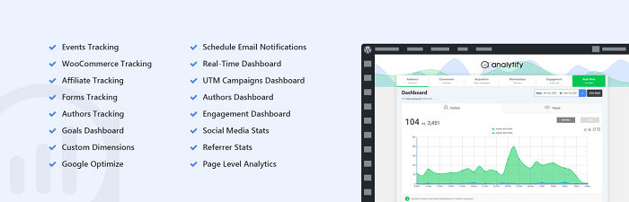 The banner for Analytify, one of the top WordPress Google Analaytics plugins.