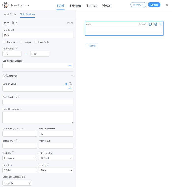 A few of the basic datepicker settings.