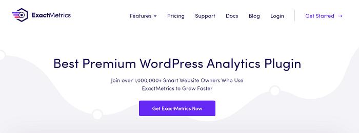 The ExactMetrics banner, one of the most powerful WordPress Google Analytics Plugins