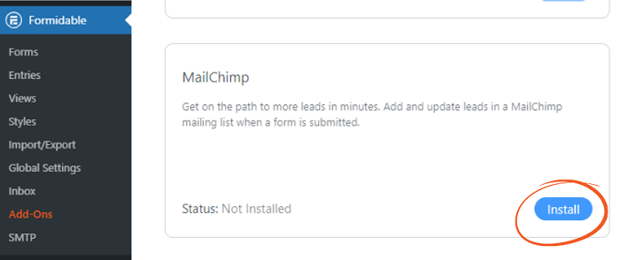 You will need this add-on to use MailChimp GDPR options.