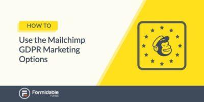 Mailchimp GDPR marketing options