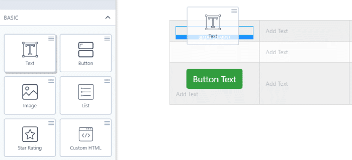 Using WP Table Builder