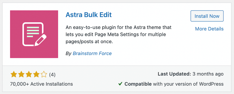 Astra bulk edit plugin