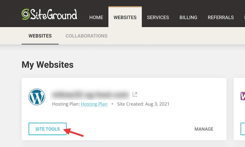 Siteground site tools