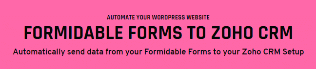 WordPress Zoho forms for Formidable plugin