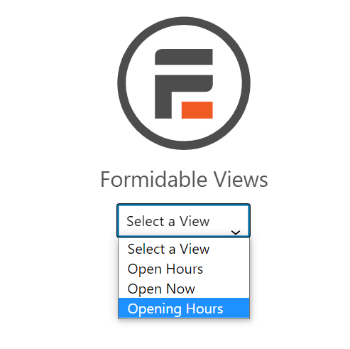 Insert a Formidable view to display business hours on your website with a WordPress business hours widget