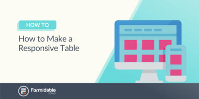 How to Make a Responsive Table