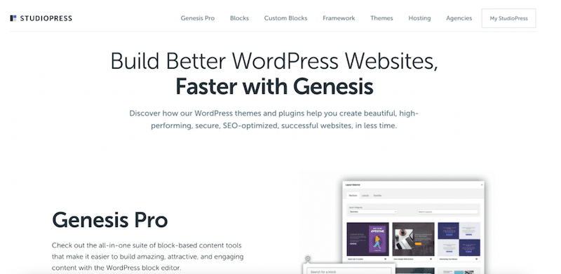 Genesis StuidioPress WordPress theme