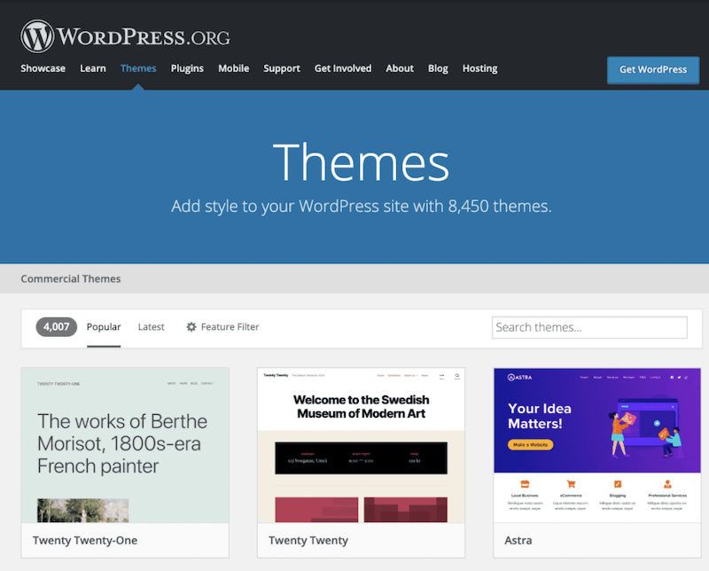 wordpress theme library