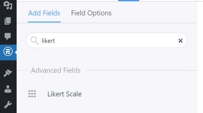 Adding a Likert scale.
