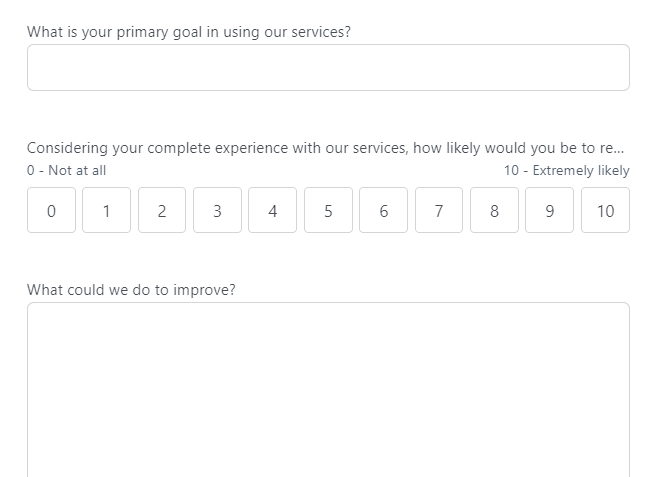 Asking users an open-ended question within an NPS survey