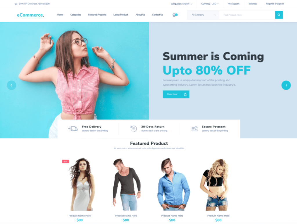 How to build a website with WordPress, using an e-commerce theme.