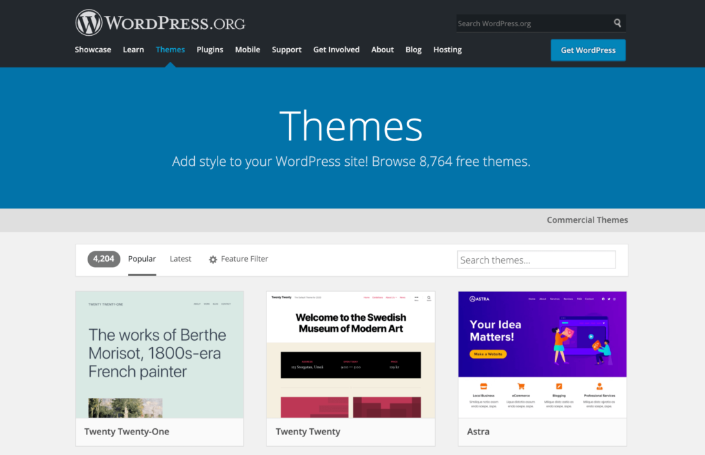 How to build a WordPress website, using themes.