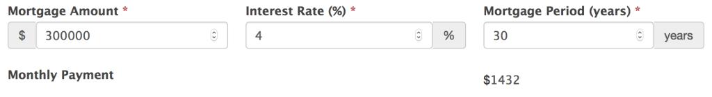 WordPress mortgage calculator