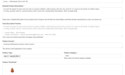 WooCommerce Product Information Form