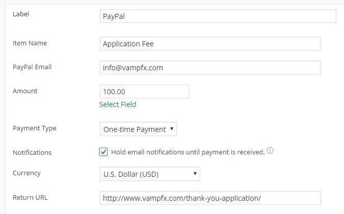 Email after Paypal Payment