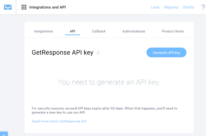 Generate API Key