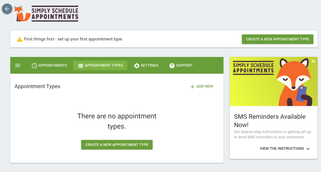 Setup Simply schedule appointments booking plugin