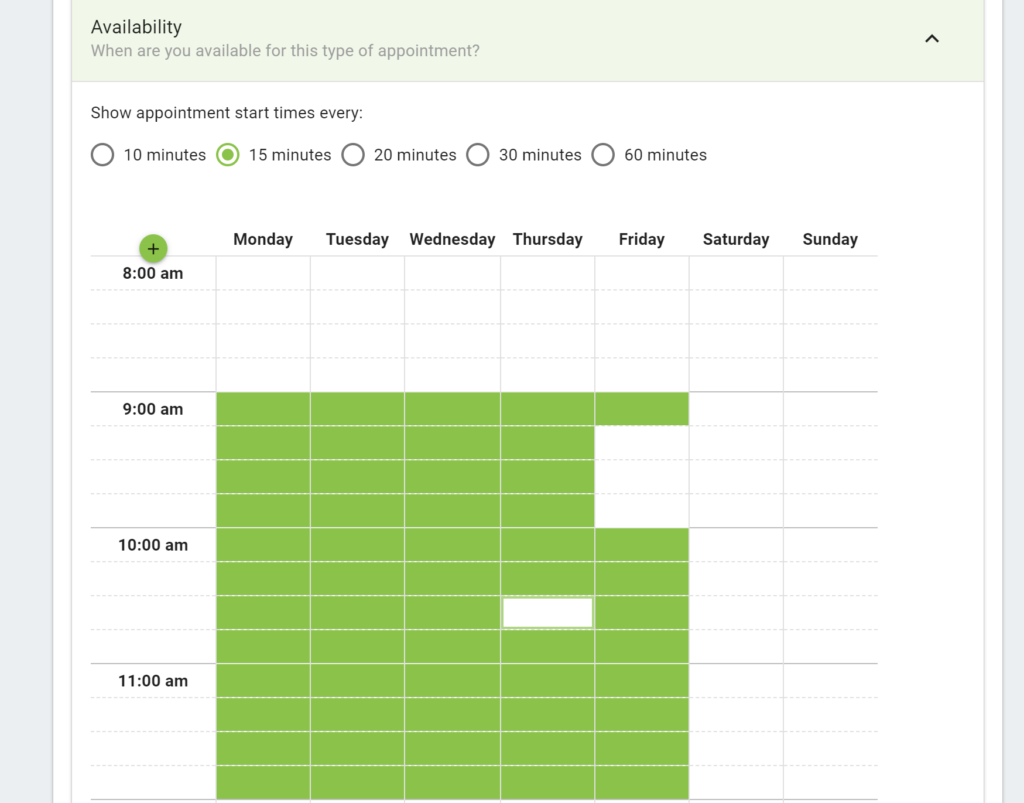Schedule availability in WordPress