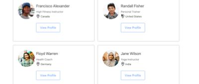 User / Member Directory demo