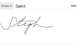Drawn Signature