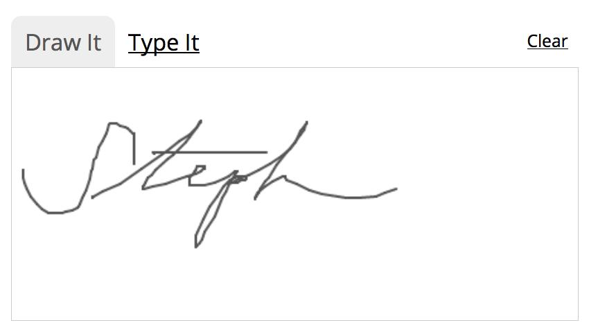 drawn signature