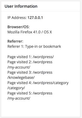 WordPress form user tracking